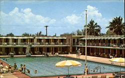 Famed Hollywood Beach Hotel Pool And Cabana Area Postcard