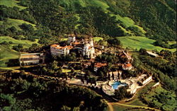Aerial View Of Hearst Castle And Grounds