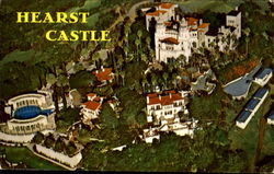 Aerial Of Hearst Castle