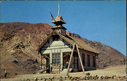 School House In Calico Ghost Town Postcard