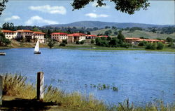 Fraternity Houses And Lake Lagunita, Stanford University