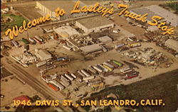Welcome To Lasley's Truck Stop, 1946 Davis St Postcard