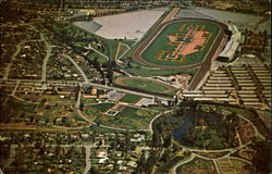 Aerial View Of World Famous Santa Anta Race Track