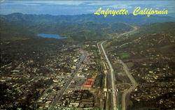 Aerial View Of Lafayette And Lafayette Reservoir