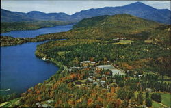 Aerial View Showing A Portion Of Lake Mirror And Lake Placid