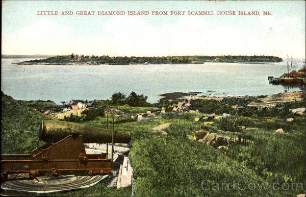 Little And Great Diamond Island Fort Scammel Maine