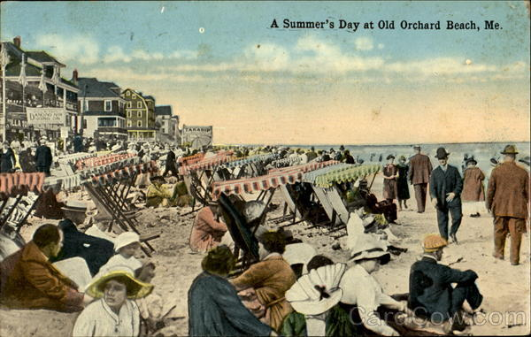 A Summer's Day At Old Orchard Beach Maine