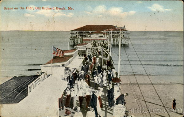 Scene On The Pier Old Orchard Beach Maine