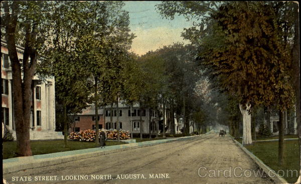 State Street Looking North Augusta Maine