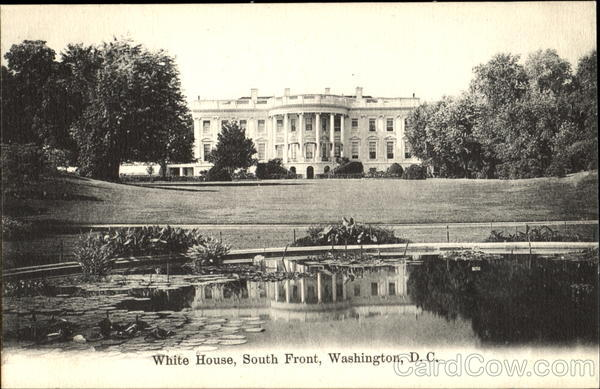 White House, South Front Washington District of Columbia