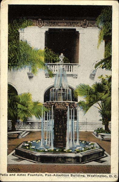 Patio And Aztec Fountain Washington District of Columbia