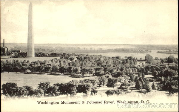 Washington Monument & Potomac River District of Columbia