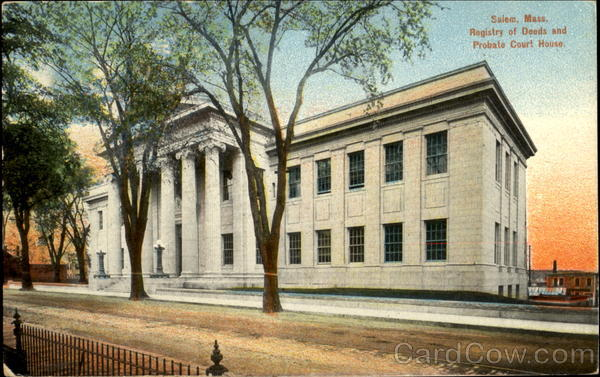 Registry Of Deeds And Probate Court House Salem Massachusetts