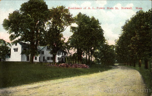 Residence Of A. L. Power Main St. Norwell Massachusetts