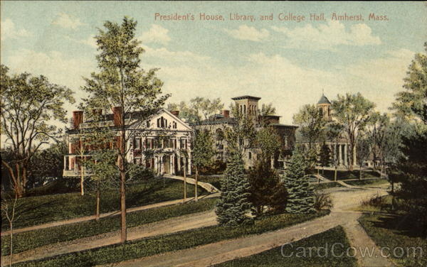 President's House Library And College Hall Amherst Massachusetts