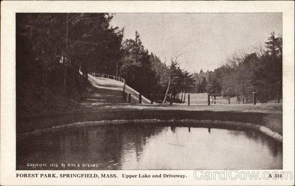 Upper Lake And Driveway, Forest Park Springfield Massachusetts