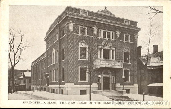 The New Home Of The Elks Club, State Street Springfield Massachusetts