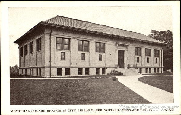 Memorial Square Branch Of City Library Springfield Massachusetts