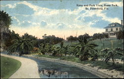 River And Park View, Roser Park Postcard