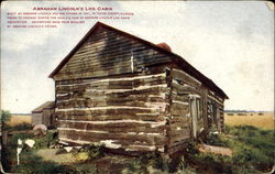 Abraham Lincoln's Log Cabin Postcard