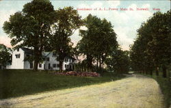 Residence Of A. L. Power Main St. Norwell