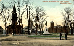Soldiers Monument And Park Square