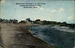 Beach View Showing U. S. Life Saving Station And Hewitt's Point