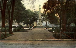 View Of Soldiers Monument & Common
