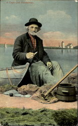 A Cape Cod Fisherman Postcard