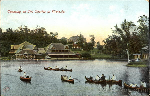 Canoeing On The Charles At Riverside Boston Massachusetts
