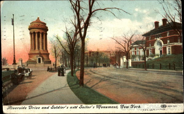 Riverside Drive And Soldier's And Sailor's Monument New York