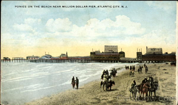 Ponies On The Beach, Million Dollar Pier Atlantic City New Jersey