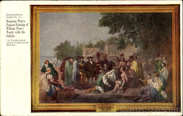 William Penn's Treaty With The Indians Art