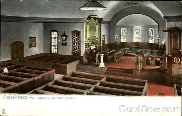Interior Of St. John's Church Richmond Virginia