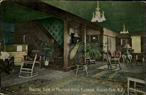 Partial View Of Montauk Hotel Exchange Asbury Park New Jersey