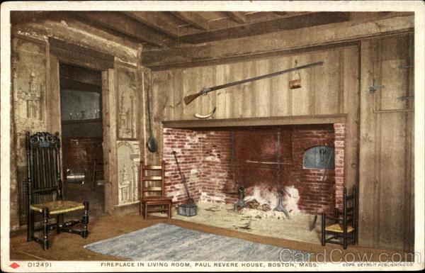 Fireplace In Living Room Paul Revere House Boston Massachusetts