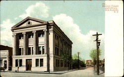 Masonic Temple And Library Postcard