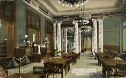 Interior Of Library, College of Wooster