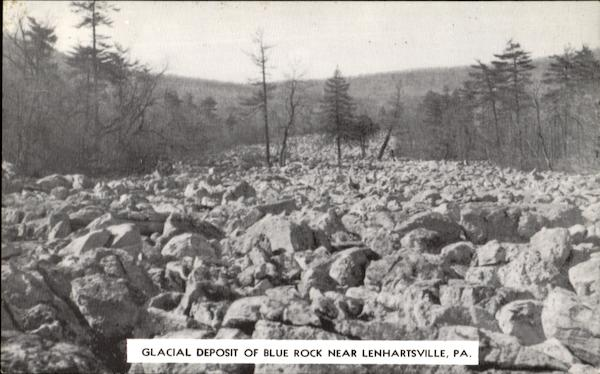 Glacial Deposit Of Blue Rock Lenhartsville Pennsylvania
