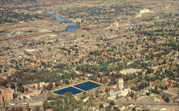 Aerial Of St. John's Episcopal Church Spokane Washington