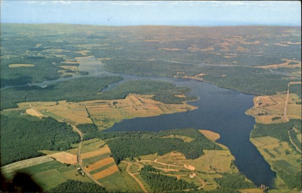 Aerial View Of Price Gallitzin State Park, Cambria County Spruce Creek Pennsylvania