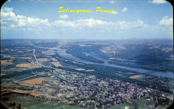 Aerial View Of Selinsgrove Pennsylvania