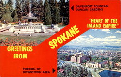 Greetings From Spokane Postcard