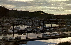 Sunset At Ilwaco Port