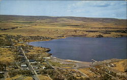 Aerial View Of Soap Lake