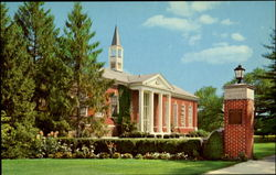 The Library And Landes Gateway, Susquehanna University Postcard