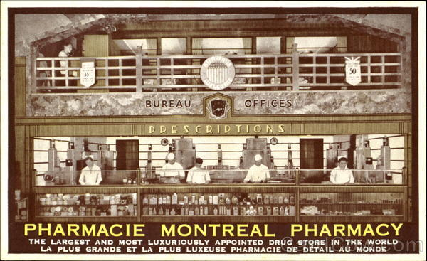 Pharmacie Montreal Pharmacy PQ Canada Quebec