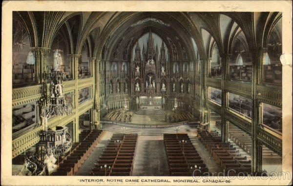 Interior Notre Dame Cathedral Montreal Canada Quebec