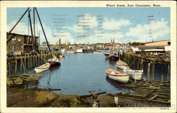 Wharf Scene East Gloucester Massachusetts