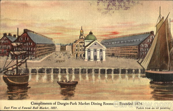 Compliments Of Durgin-Park Market Dining Room, 30 North Market St Boston Massachusetts